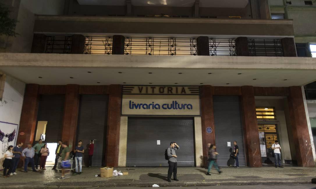 Livraria Cultura da Rua Senador Dantas, no Centro, fecha as portas Foto: Alexandre Cassiano / Agência O Globo