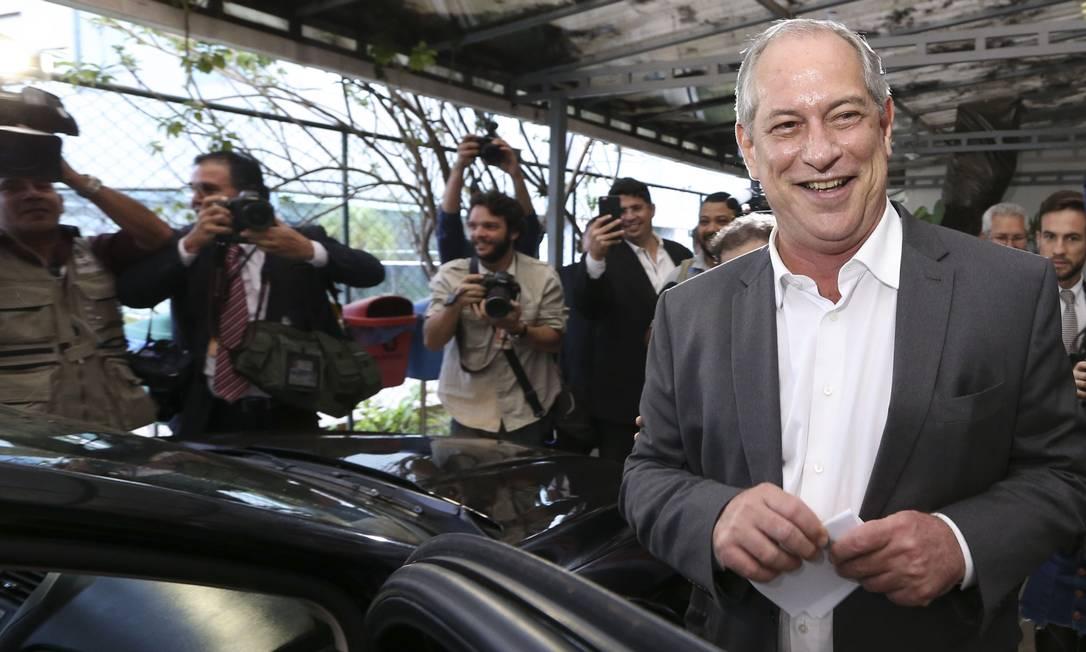 Terceiro colocado nas últimas eleições, Ciro Gomes quer ser a opção da esquerda para derrotar Bolsonaro em 2022 Foto: Valter Campanato/Agência Brasil / Agência O Globo