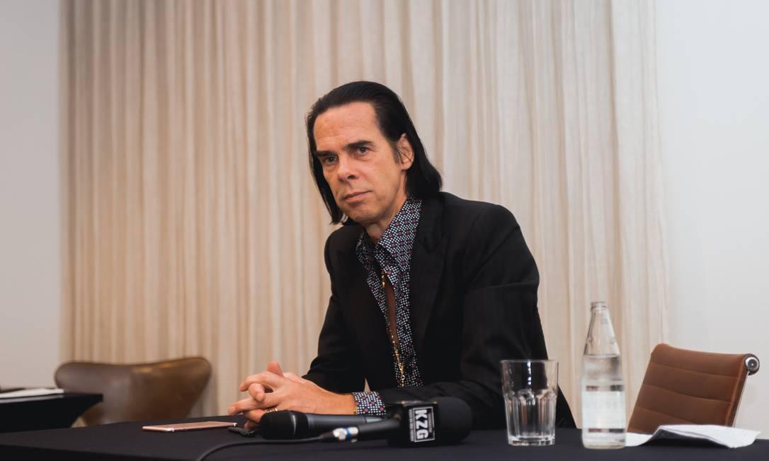 Cantor Nick Cave em São Paulo, onde faz show no domingo Foto: Fabricio Vianna / Divulgação