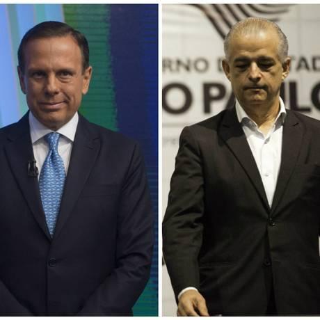 João Doria e Marcio França disputam o segundo turno das eleições ao governo de São Paulo Foto: Levi Bianco/ Bruno Rocha / Brazil Photo Press/Fotoarena