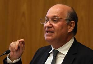 O presidente do BC Ilan Goldfajn durante cerimônia em Brasília Foto: Givaldo Barbosa / Agência O Globo 14-05-2018