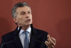 Macri: deputada Elisa Carrió afirmou ter perdido a confiança no presidente argentino Foto: EITAN ABRAMOVICH / AFP