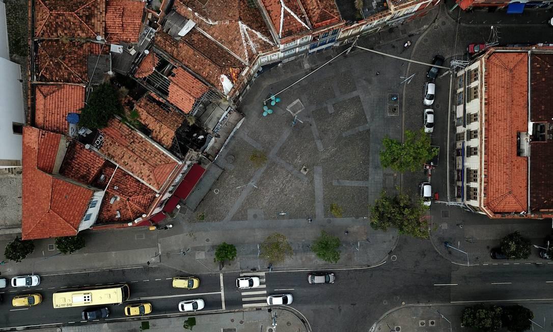 Praça São Francisco da Prainha Foto: Custódio Coimbra / Agência O Globo