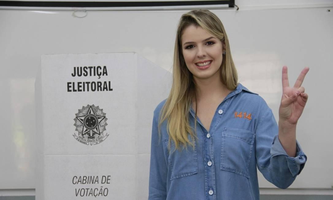 Luísa Canziani, de 22 anos, é a mais jovem deputada federal Foto: Divulgação
