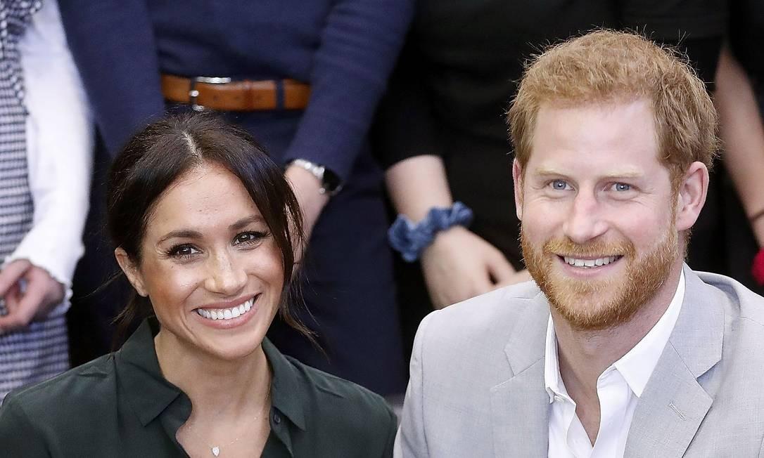 Meghan Markle e príncipe Harry esperam um bebê Foto: CHRIS JACKSON / AFP