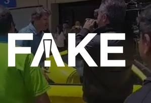 É #FAKE a postagem que diz que Haddad chegou ao aeroporto de Congonhas em uma Ferrari Foto: Reprodução