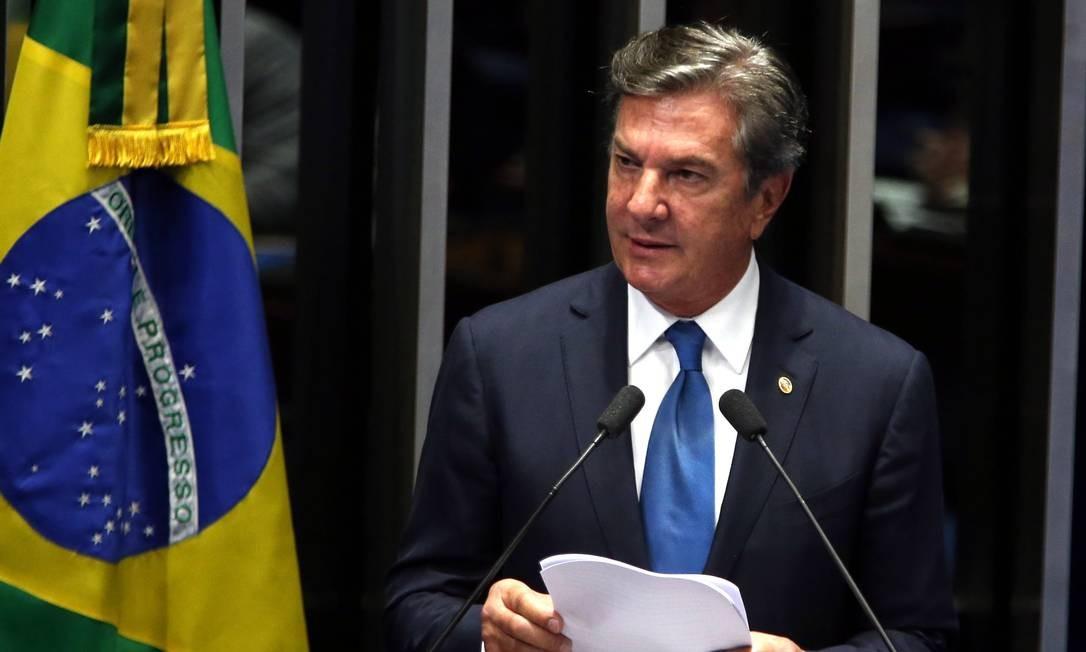O senador Fernando Collor (PTC-AL) Foto: Givaldo Barbosa / Agência O Globo