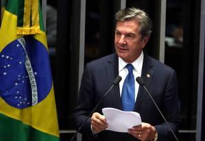 O senador Fernando Collor (Pros-AL), ex-presidente da República Foto: Givaldo Barbosa / Agência O Globo