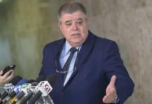O ministro da Secretaria de Governo, Carlos Marun, durante entrevista coletiva Foto: Wilson Dias/Agência Brasil