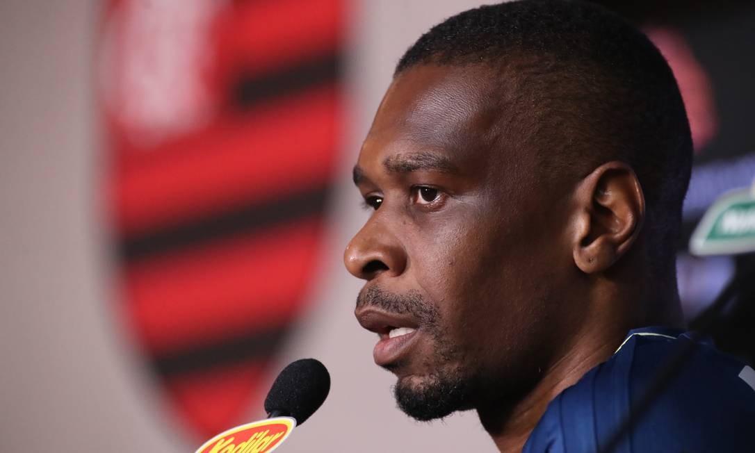 Entrevista com o jogador do Flamengo Foto: Gilvan de Souza