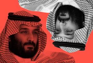 Mohammed bin Salman, príncipe herdeiro da Arábia Saudita Foto: Agência O Globo