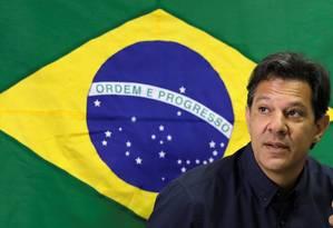 Candidato à Presidência da República, Fernando Haddad (PT) durante entrevista coletiva em São Paulo Foto: PAULO WHITAKER / REUTERS