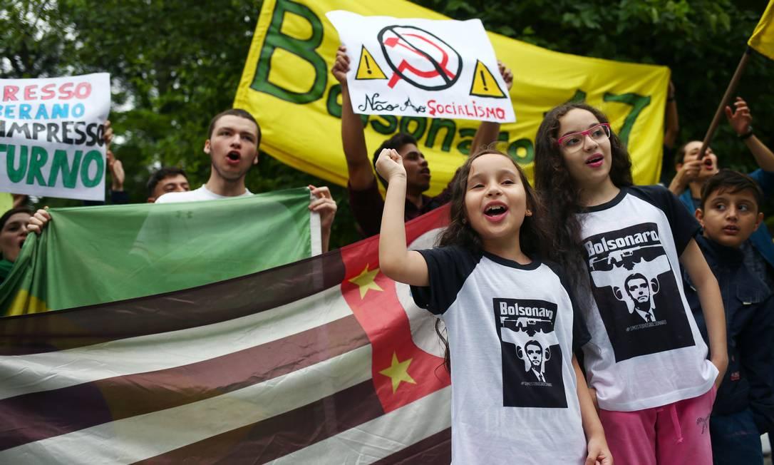 Manifestação pró-Bolsonaro em São Paulo 14/10/2018 Foto: AMANDA PEROBELLI / REUTERS