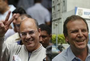 Wilson Witzel (PSC) disputa segundo turno contra Eduardo Paes (DEM) Foto: Pablo Jacob / Gabriel de Paiva / Agência O Globo