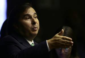 Reeleito para mais um mandato, Rodrigo Maia (DEM-RJ) não confirma candidatura para novo mandato como presidente da Câmara Foto: Jorge William / Agência O Globo