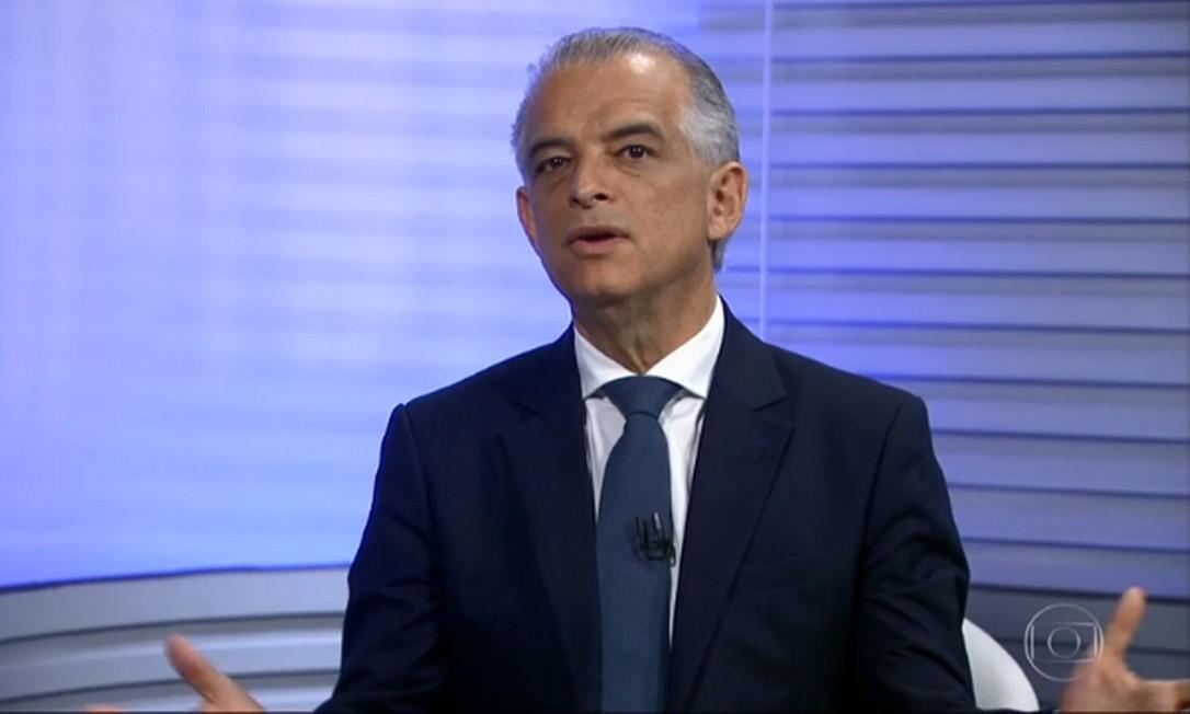 Márcio França, candidato do PSB ao governo de São Paulo, no SPTV 2ª Edição Foto: Reprodução/TV Globo
