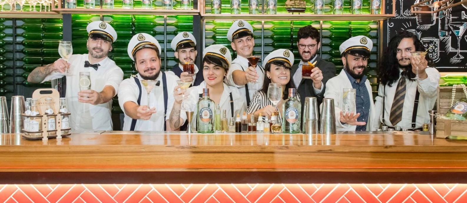 Plymouth Classics Day: grupo de bartenders cria drinques exclusivos às quartas Foto: Divulgação/Camila Uchoa