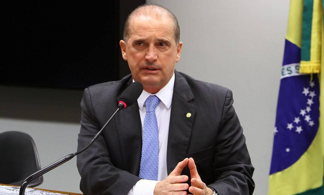 O deputado federal Onyx Lorenzoni (DEM-RS) Foto: Vinicius Loures/Câmara dos Deputados/19-06-2018