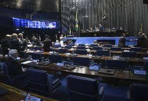 Plenário do Senado durante sessão deliberativa Foto: Jefferson Rudy/Agência Senado