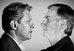 Fernando Haddad e Jair Bolsonaro: os candidatos que disputam o segundo turno da eleição presidencial Foto: Fotos da Agência O Globo