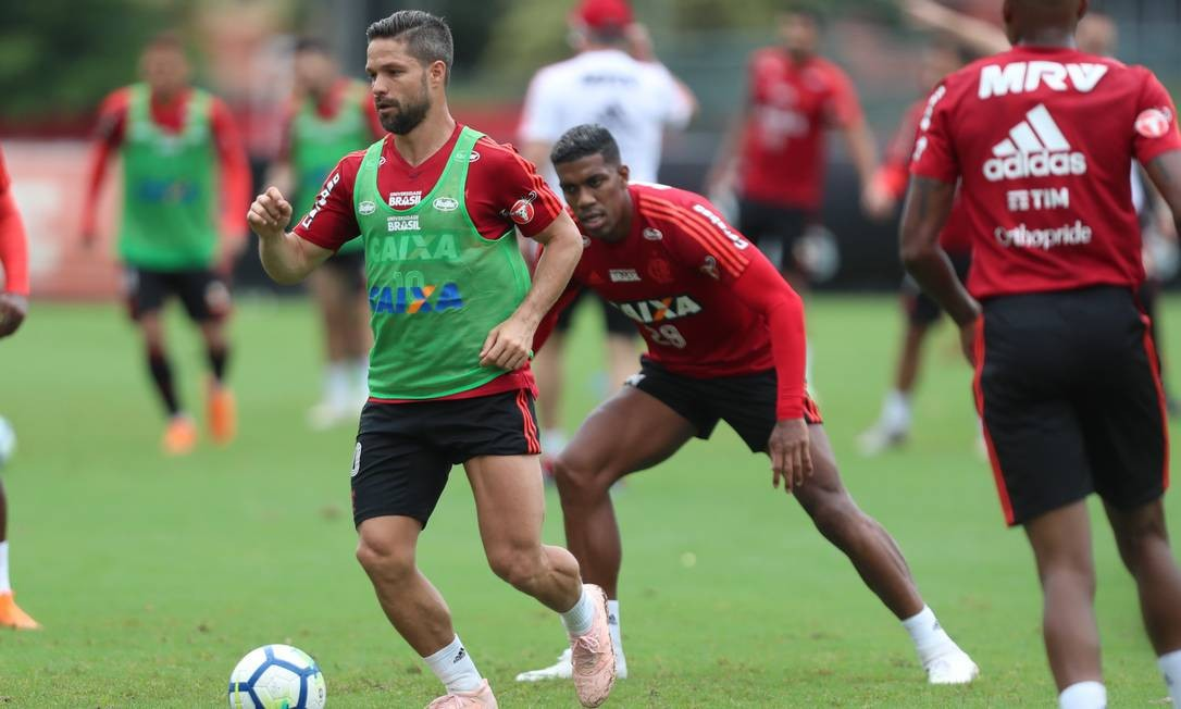 Diego em campo no Flamengo Foto: Divulgação