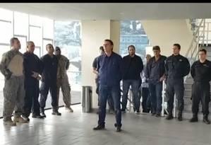 Bolsonaro visitou o Bope, no Rio 15/10/2018 Foto: Reprodução