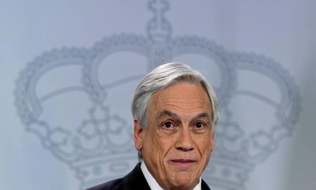 O presidente do Chile, Sebastián Piñera: embate inédito e rápido com militares Foto: JAVIER SORIANO / AFP/9-10-2018