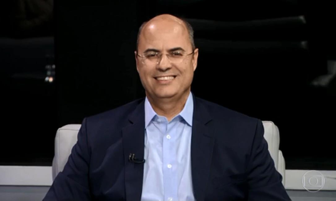 Wilson Witzel, candidato do PSC ao Governo do estado do Rio de Janeiro, no RJ2 Foto: Reprodução/TV Globo