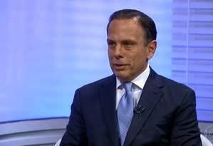 João Doria (PSDB) participa de entrevista no no SPTV 2ª edição Foto: Reprodução