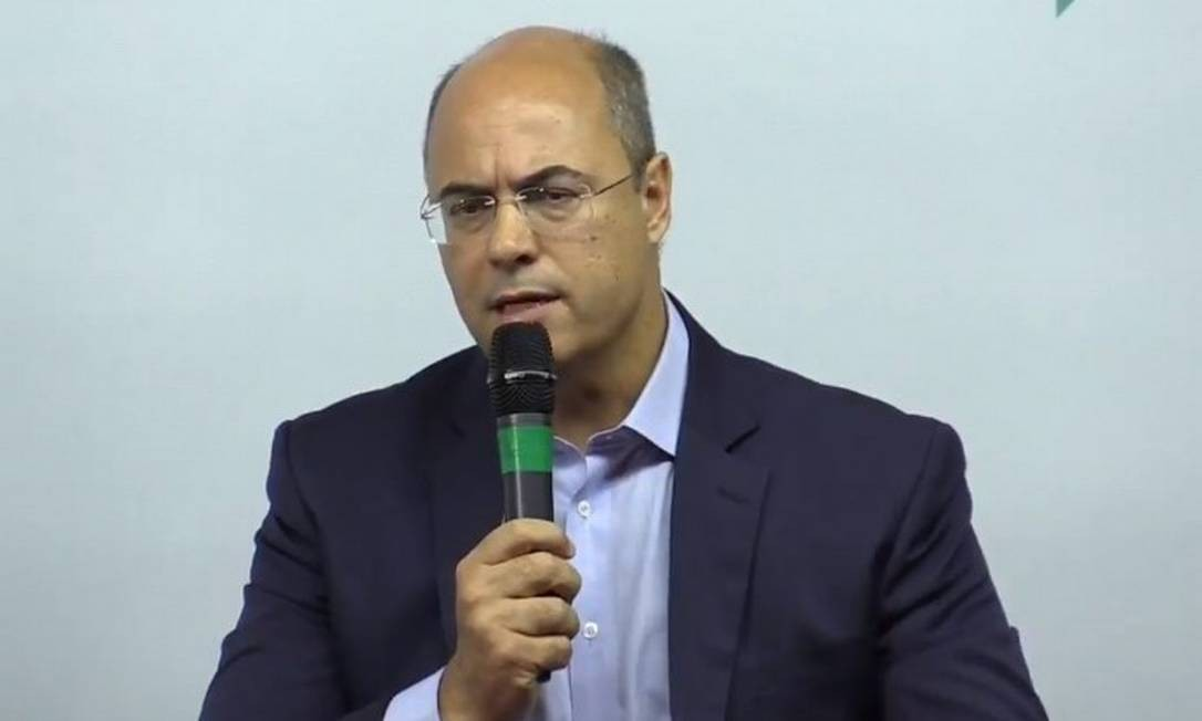 "Wilson Witzel (PSC) durante debate no ""O Globo"" Foto: Facebook/O Globo"