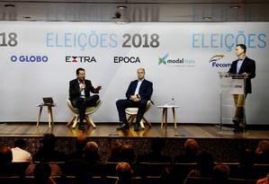 Debate entre os candidatos ao governo do Rio Wilson Witzel (PSC) e Eduardo Paes (DEM) Foto: Pablo Jacob / Agência O Globo