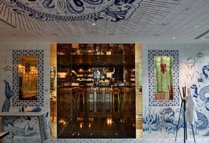 Decoração de Philippe Starck para o Bazaar Mar, bar do estiloso hotel SLS Brickell, em Miami Foto: Divulgação
