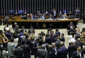 Plenário da Câmara dos Deputados durante sessão conjunta do Congresso Nacional que autorizou piso salarial para agentes de saúde Foto: Roque de Sá / Agência Senado