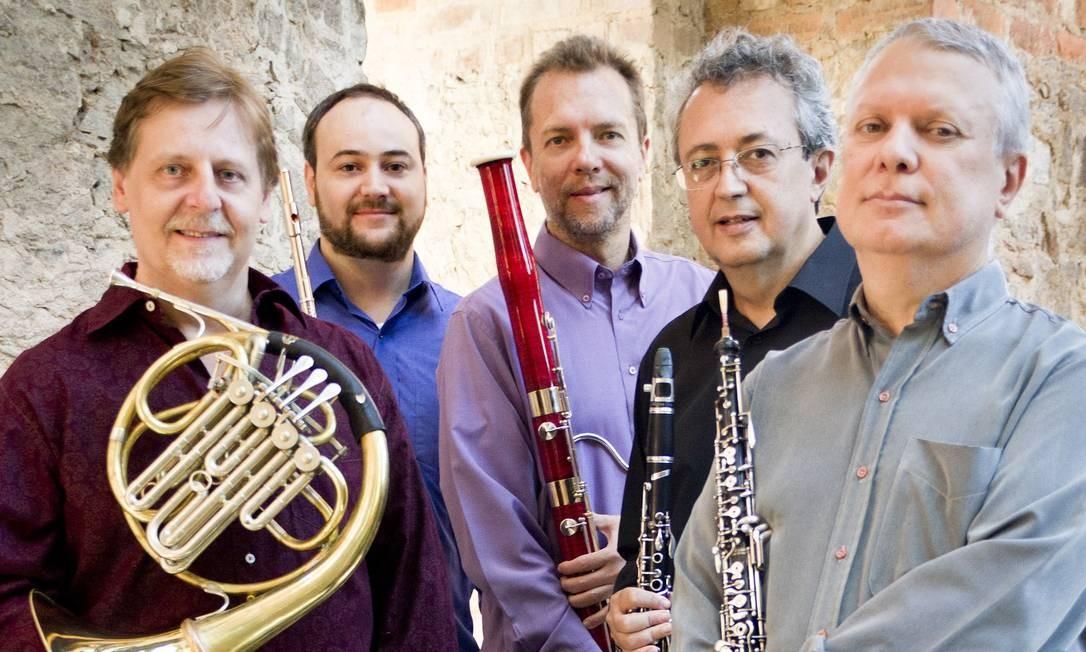 Quinteto Villa-Lobos, atração da Casa Firjan Foto: Silvana Marques / Divulgação