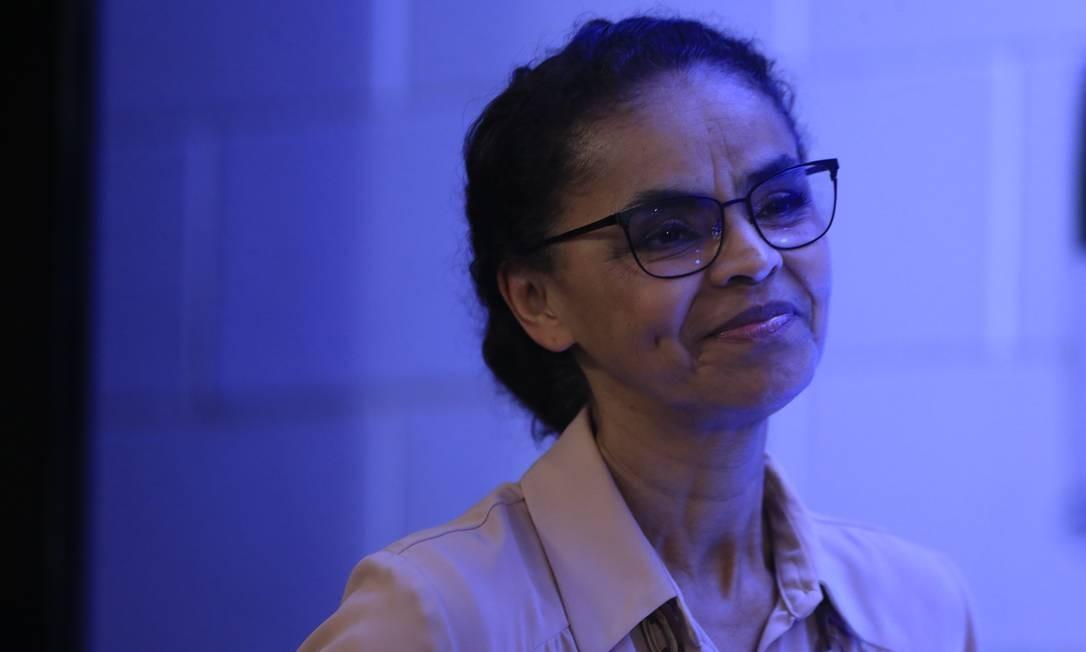 Marina Silva participa de debate com presidenciáveis na TV Globo Foto: Marcelo Theobald/Agência O Globo/04-10-2018