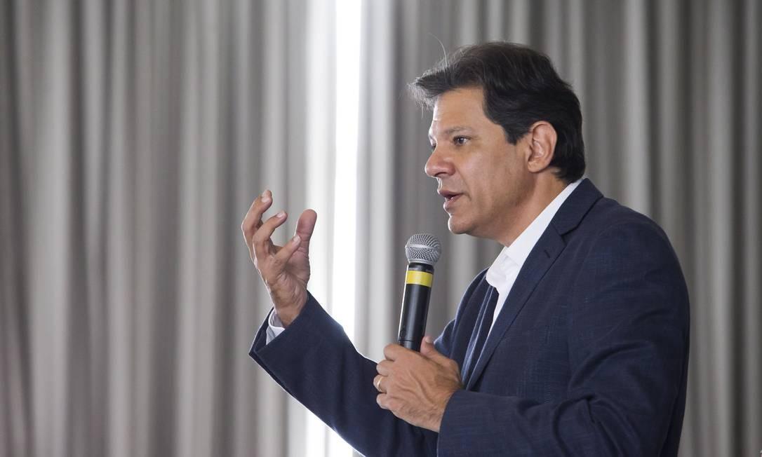 O candidato do PT, Fernando Haddad Foto: Edilson Dantas / Agência O Globo