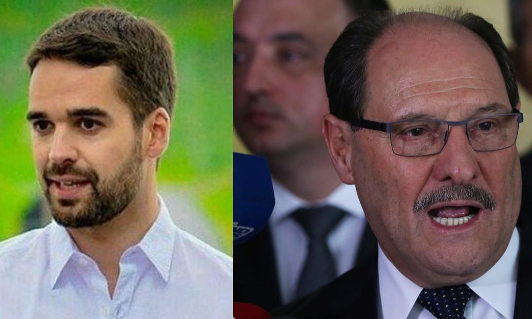 Eduardo Leite (PSDB) e José Ivo Sartori (MDB) disputam governo do Rio Grande do Sul Foto: Agência O Globo