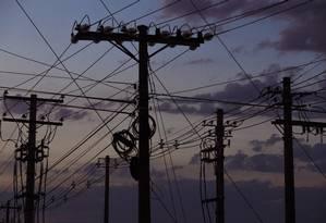Transmissão de energia Foto: Daniel Marenco / Agência O Globo