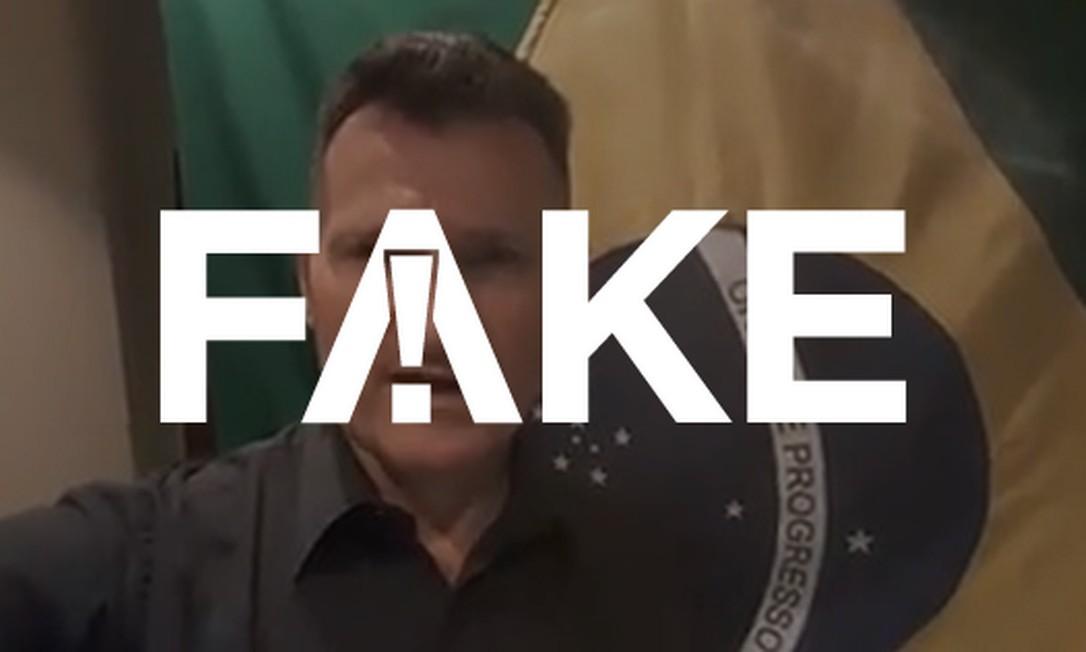 Autor do vídeo faz afirmações falsas Foto: Reprodução