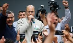 O ex-juiz federal Wilson Witzel começou a campanha eleitoral ao governo do Rio de Janeiro como nanico e terminou em primeiro lugar Foto: Pablo Jacob / Agência O Globo