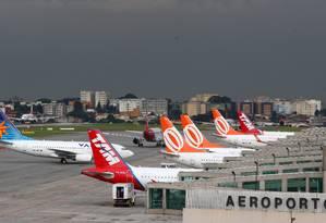 Aeroporto de Congonhas, em São Paulo Foto: Michel Filho/Agência O Globo/09-02-2010