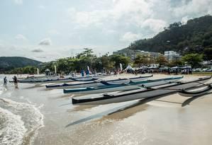 Etapa. Canoas em Charitas: bairro recebeu uma das fases do campeonato Foto: Divulgação