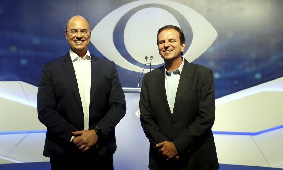 Em debate, Witzel e Paes mantêm ataques e citam Bolsonaro