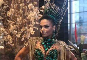 Quitéria Chagas: rainha de bateria do Império Serrano Foto: Arquivo Pessoal