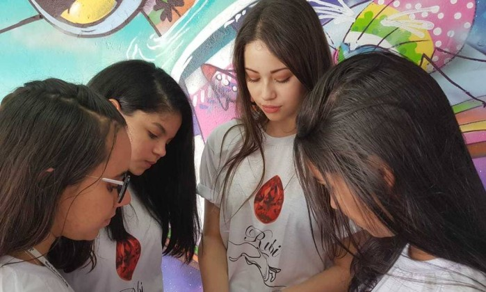 (da esq. para a dir.) Danielly, Heloísa, Luana e Victoria Foto: Divulgação