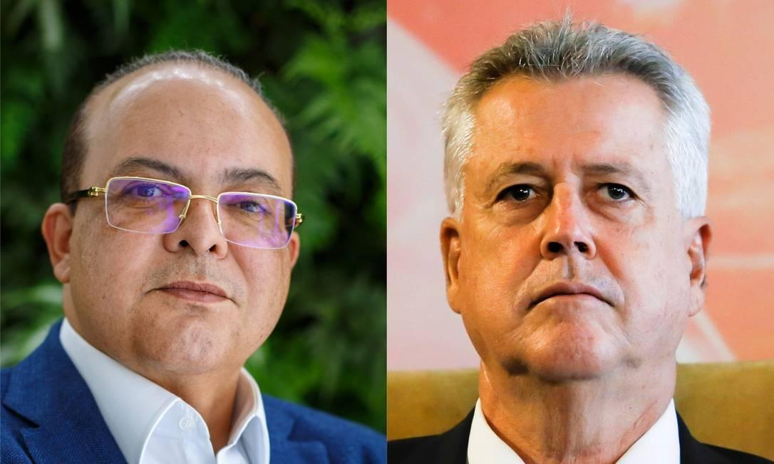 Os candidatos ao governo do DF Ibaneis Rocha e Rodrigo Rollemberg Foto: Agência O Globo