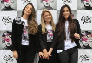"""Unidas. Camila Monteiro (à esquerda), Ana Paula Ferreira e Katharine Ferreira criaram o evento """"Entre elas"""" Foto: Roberto Moreyra / Roberto Moreyra"""