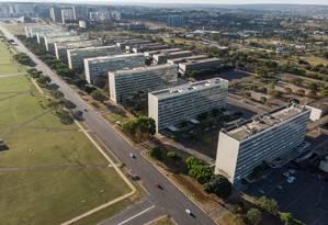 Esplanada dos Ministérios em Brasília Foto: Brenno Carvalho / Agência O Globo