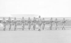 Tropas do Exército em frente ao Congresso Nacional, em 31 de Março 1964 Foto: Arquivo/Agência O Globo