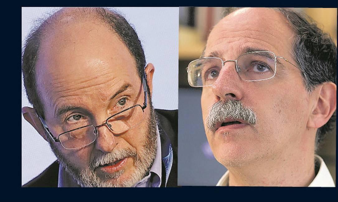 Armínio Fraga, ex-presidente do Banco Central; Fábio Giambiagi, economista especialista em Previdência Foto: / Montagem